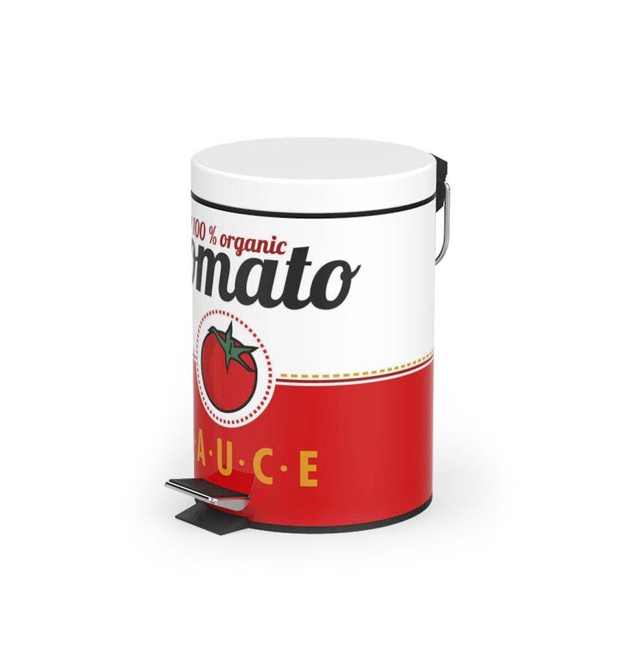 fc2db9b7d Comprar Papelera Cubo Basura Con Pedal Salsa Tomato Kamir Es