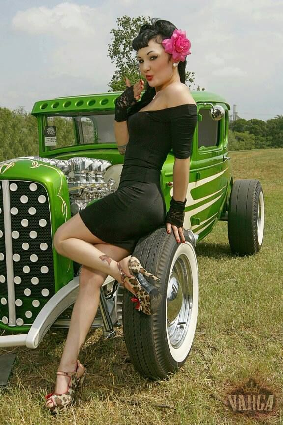2016   Hot Rod And The Beautiful Pin-Up Girl  In A -5524