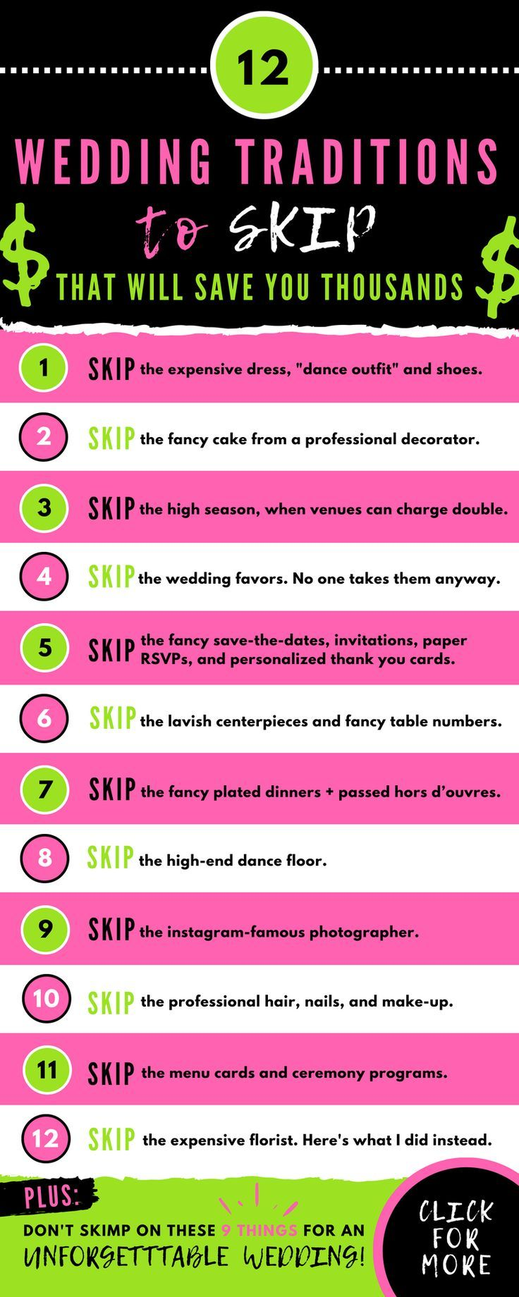 Budget Wedding Planning 101: What To Skip (and where not to skimp | Wedding Planner Article | How So