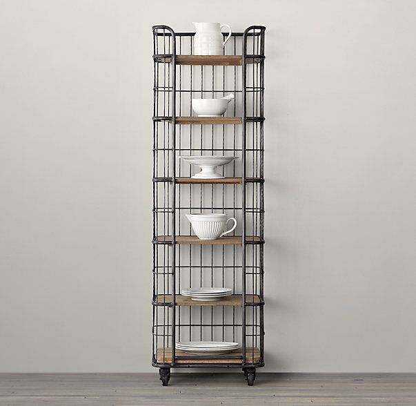 Circa 1900 Caged Baker S Rack Narrow Single Shelving With Images