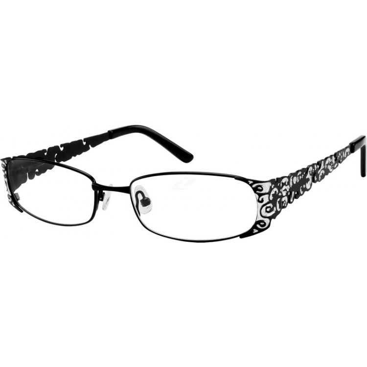 0966eb29b78 A full rim frame with design on temples from Zenni Optical. VERY inexpensive  glasses!