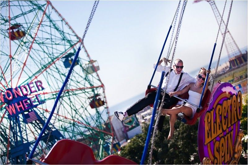 Coney Island Wedding Photoshoot Spearmint