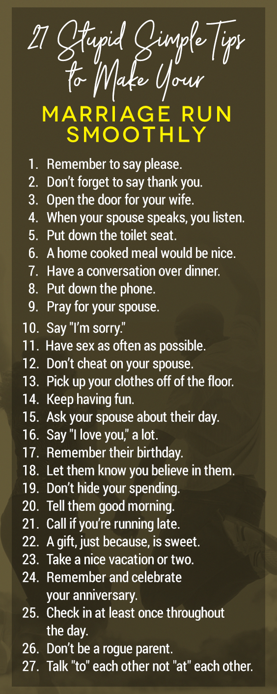 These 27 tips will help your marriage run smoother than ever! marriagetips marriageadvice marriage healthyloveandrelationships is part of Marriage goals -