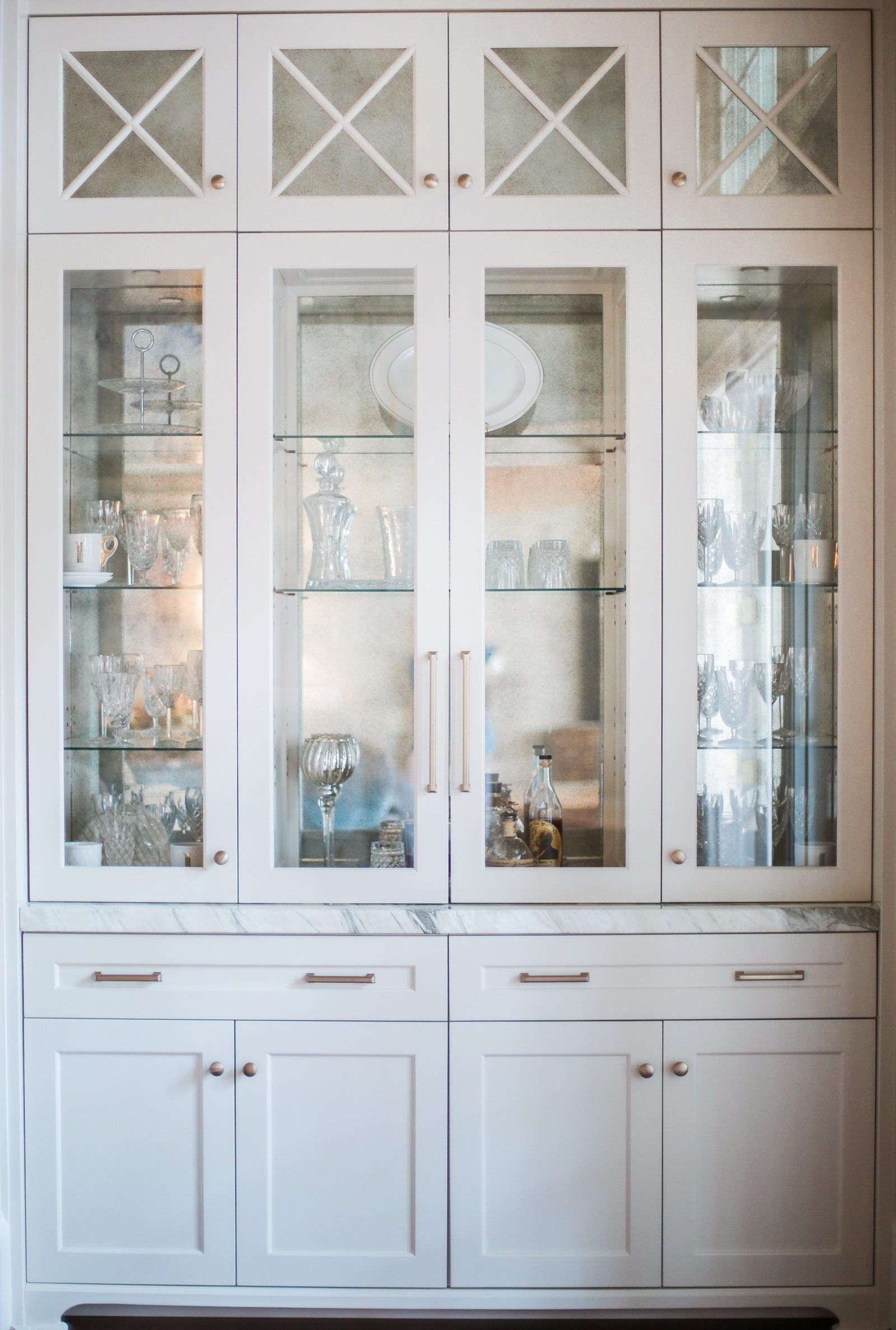 Beyond Beautiful Dining Room Storage In White Gold