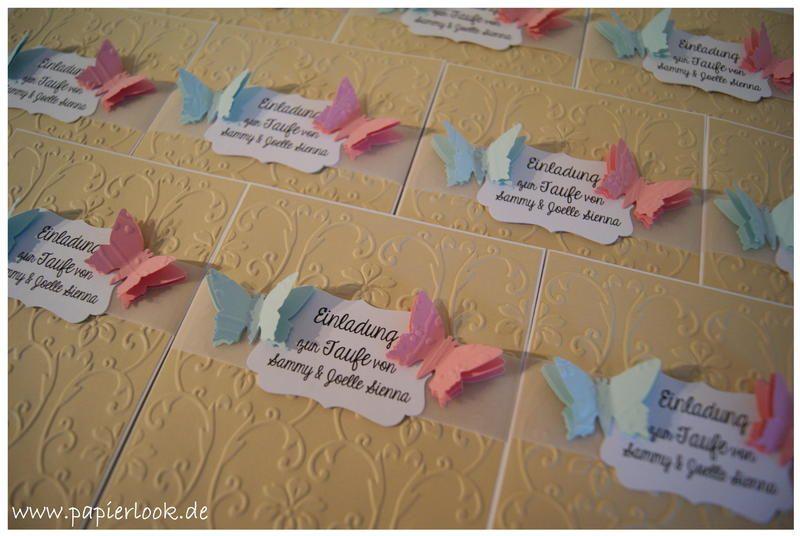 ~+Einladungen+zur+Taufe+für+Zwillinge+~+von+papierlook
