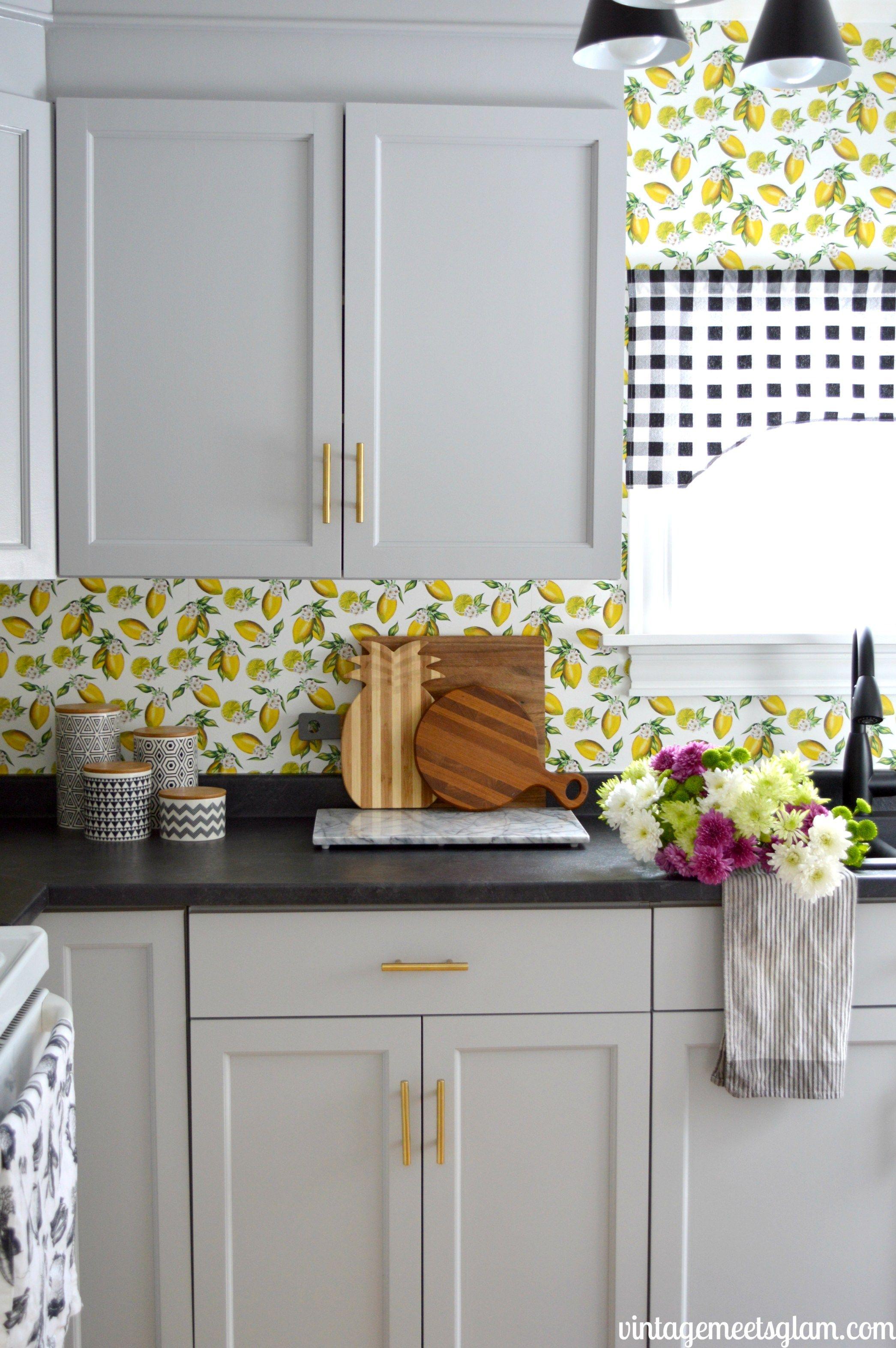 Top Ten Spoonflower Wallpapers   Kitchen wallpaper, Kitchen design ...