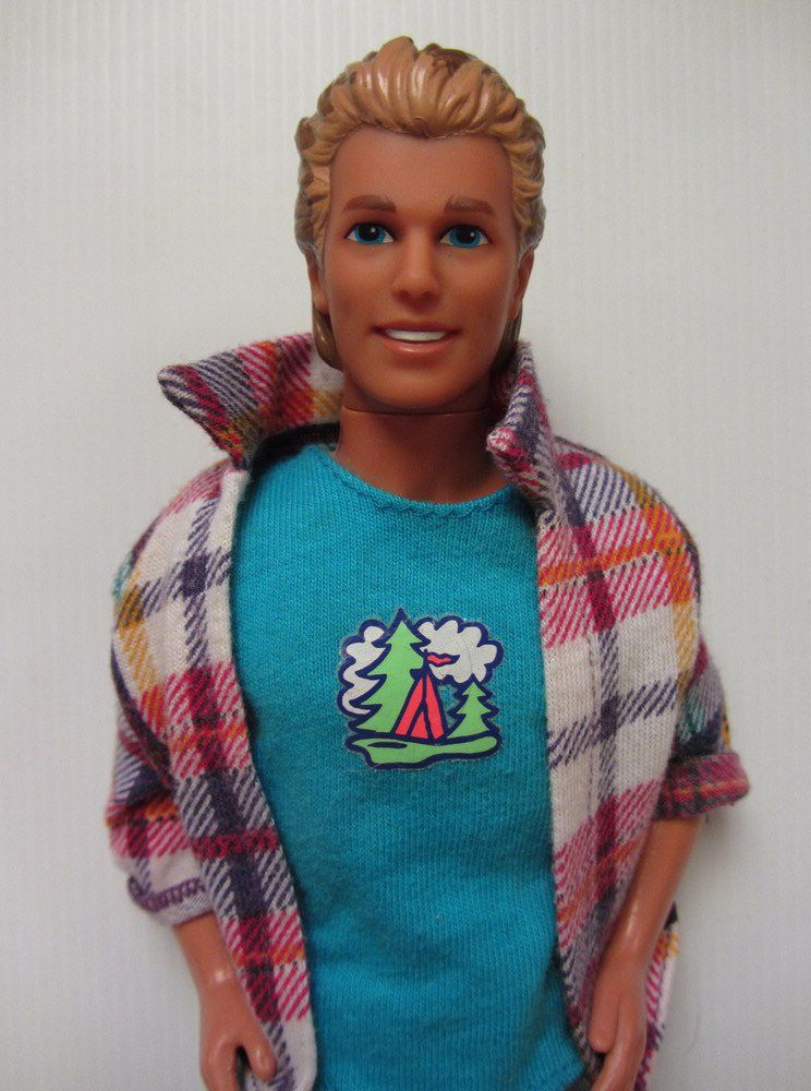 Barbie New Toy Toy Ken Doll Mattel Paper Doll Checkered Shorts