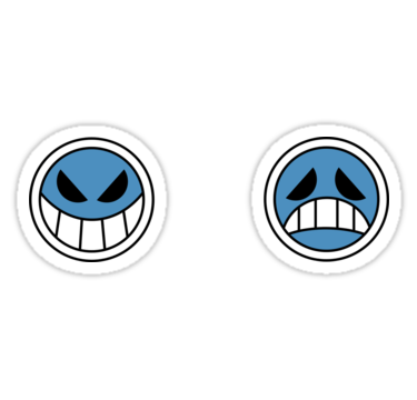 Portgas D Ace Smileys Stickers By Pxrtgas Redbubble