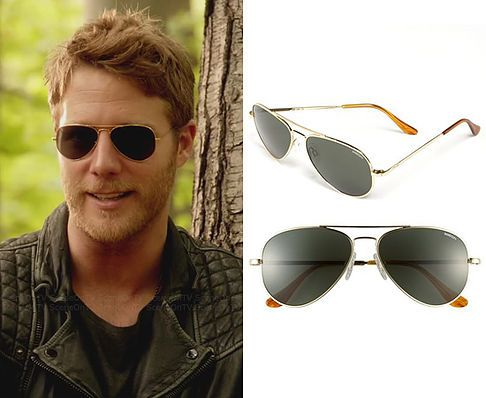 dc7fcc0114 Brian Finch (Jake McDorman) wears a Randolph Engineering  Concorde Classic   57mm Sunglasses in the color Gold Agx in Limitless Season 1 Episode 7
