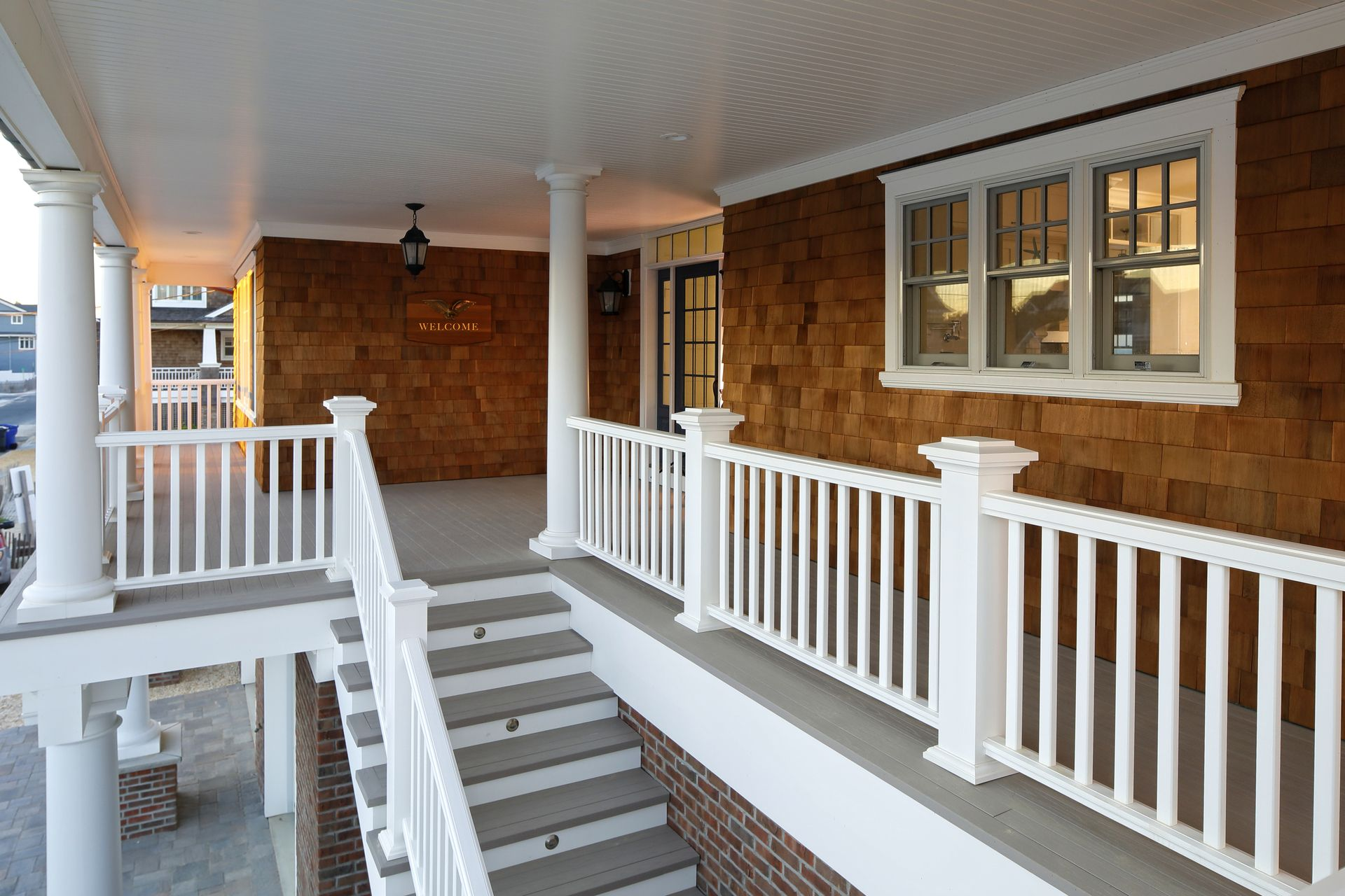 A Beautiful Porch For Your Home With All The Low Maintenance Benefits Of Our Decking Veranda