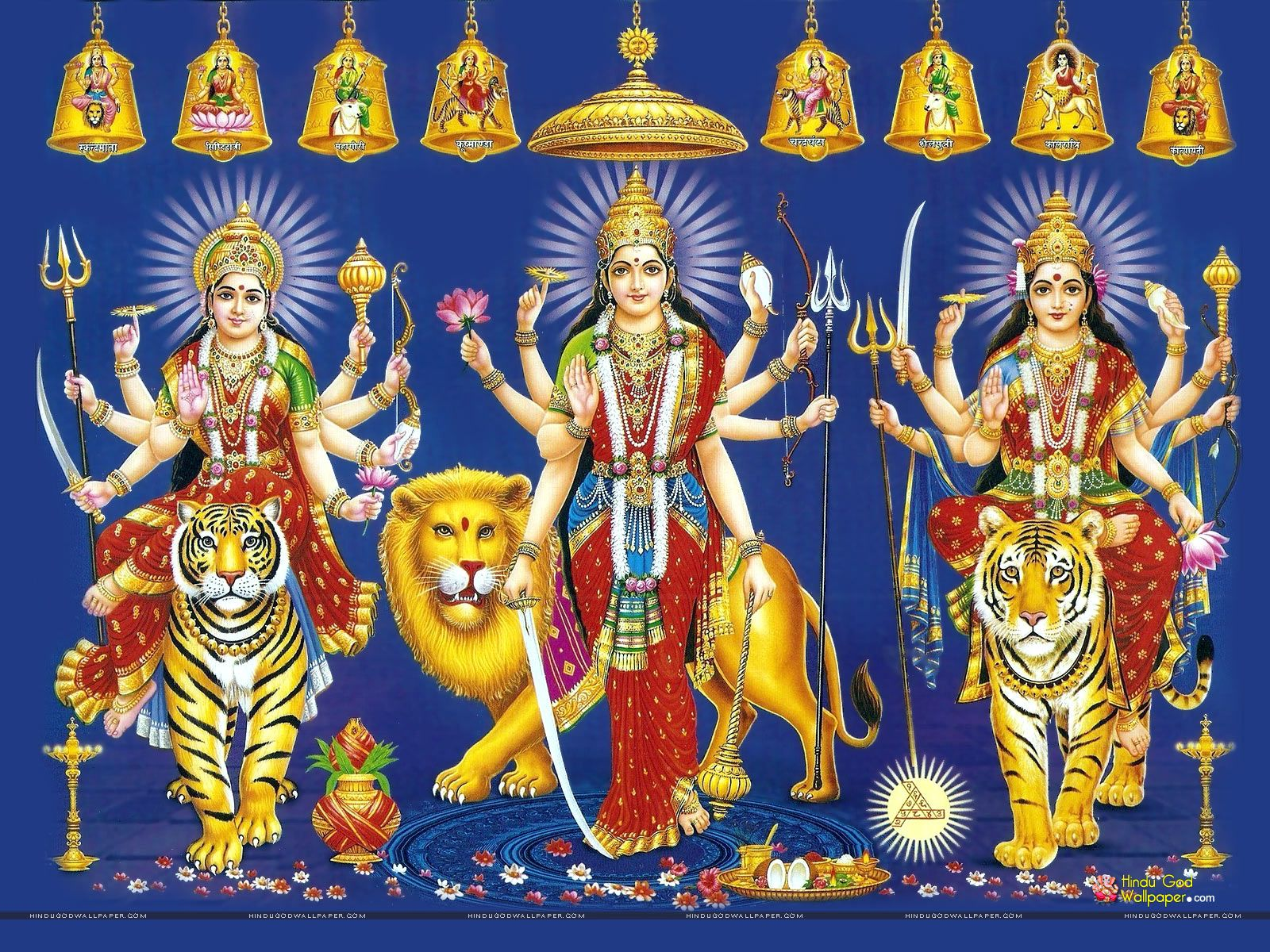 Nav Durga Hd Full Size Wallpaper Galleries Maa Durga Wallpapers