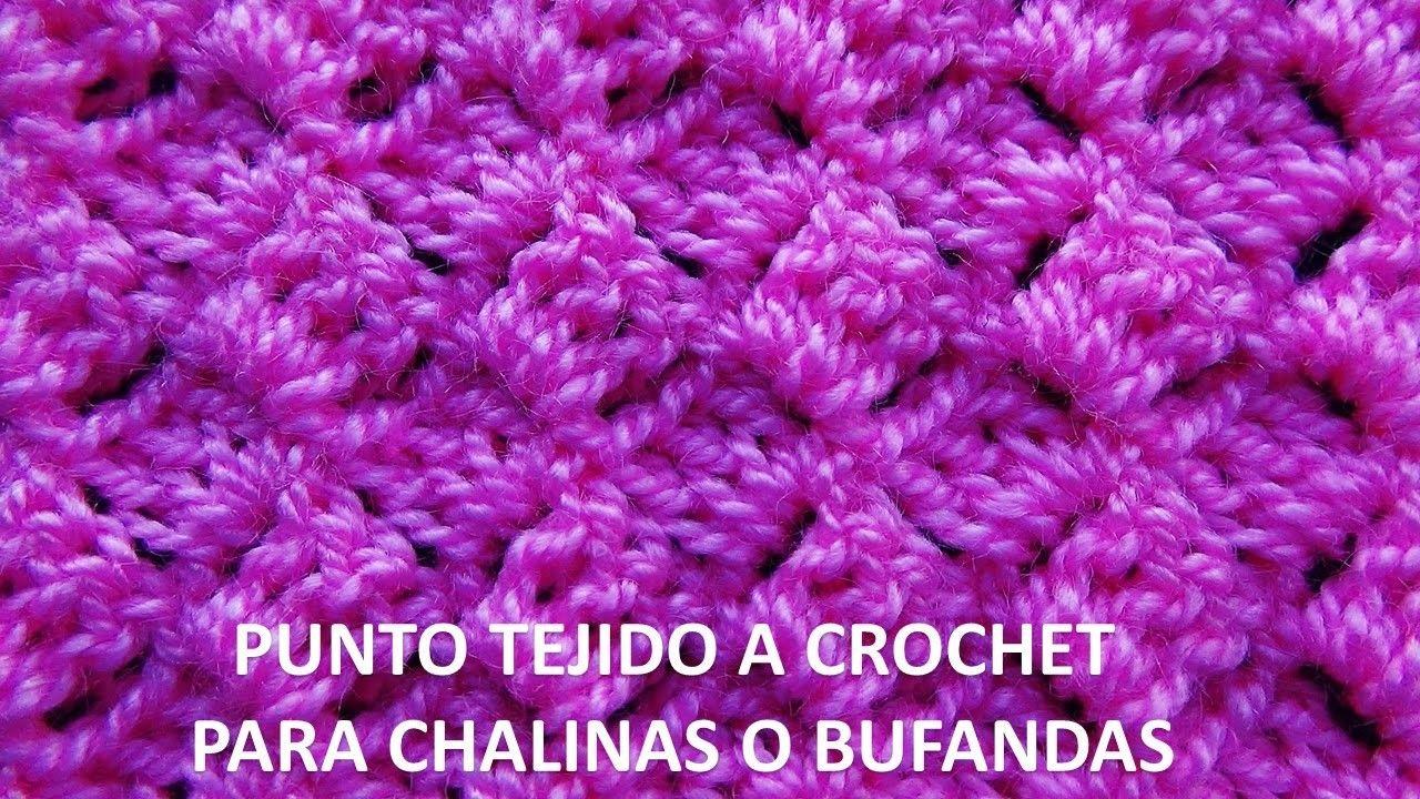 Punto tejido a ganchillo # 7 para chalinas o bufandas | Crochet ...