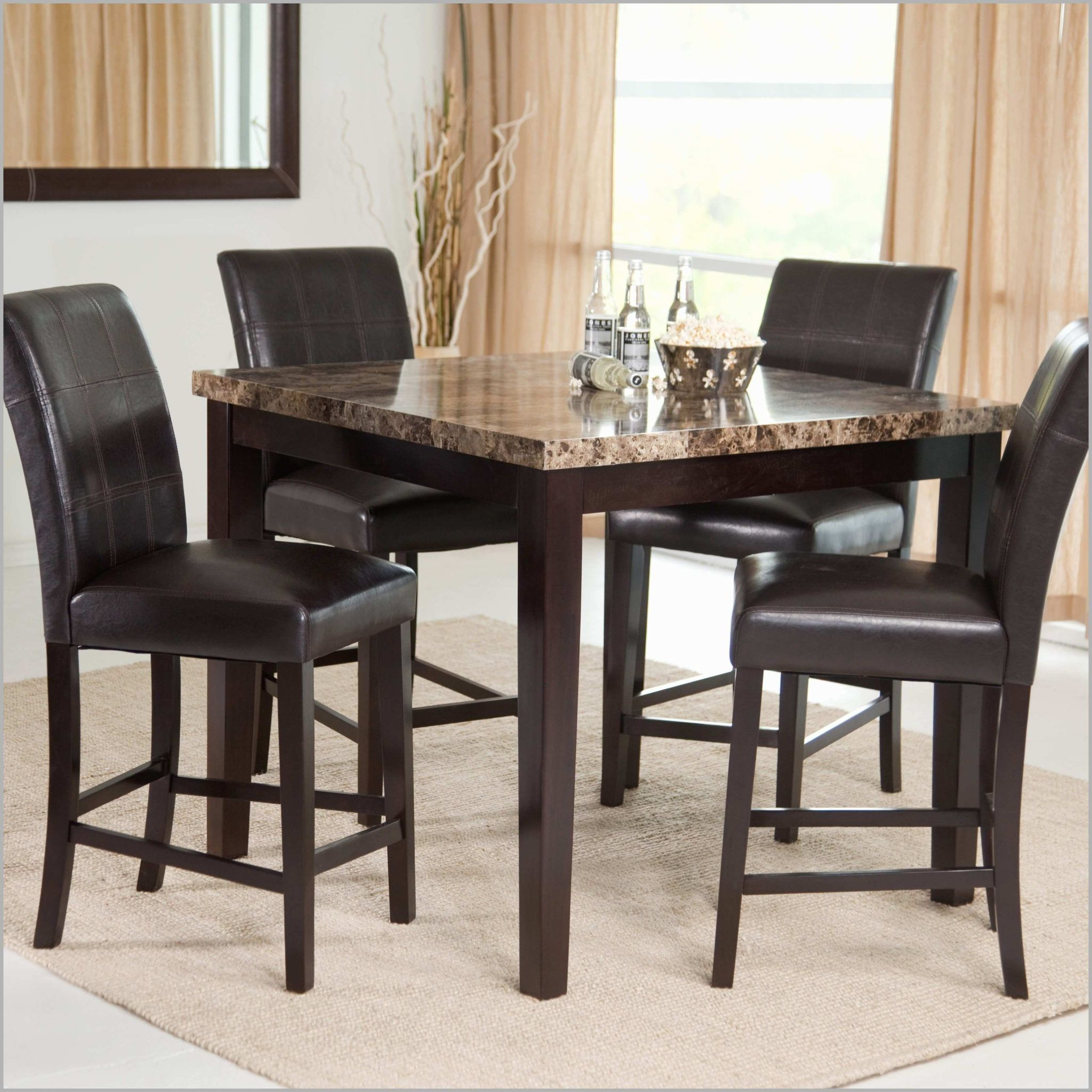 Beautiful Black High Top Kitchen Table Dining Room Table Set