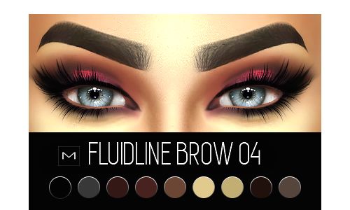 maccosimetics Fluidline Brow 04 (HQ) Sims 4, Sims 4 mac
