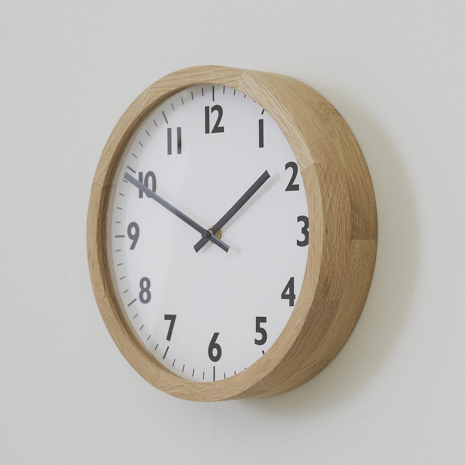Oak Wall Clock Small Decorative Accessories Home Accessories