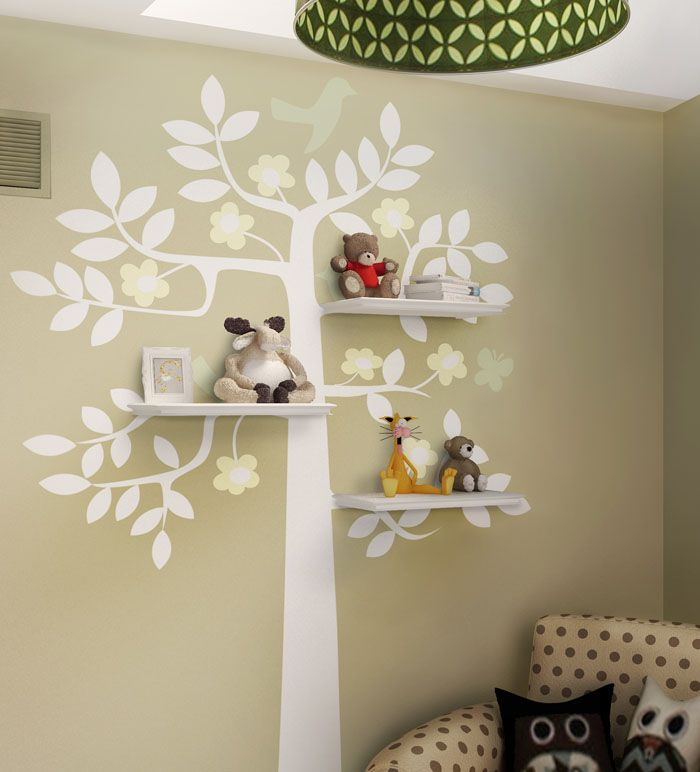 Superior Shelving · Birdy Tree Shelf Kids Room Wall Decal Good Looking