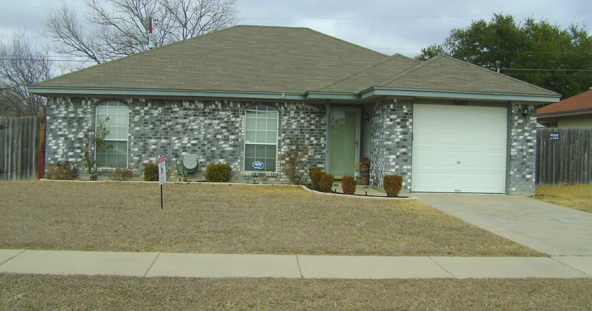 3607 Warfield, Killeen, TX 76543, 3 beds, 2 baths, 1168 sq ft For more information, contact Karen Doerbaum, Lone Star Realty & Property Management Inc., (254) 699-7003