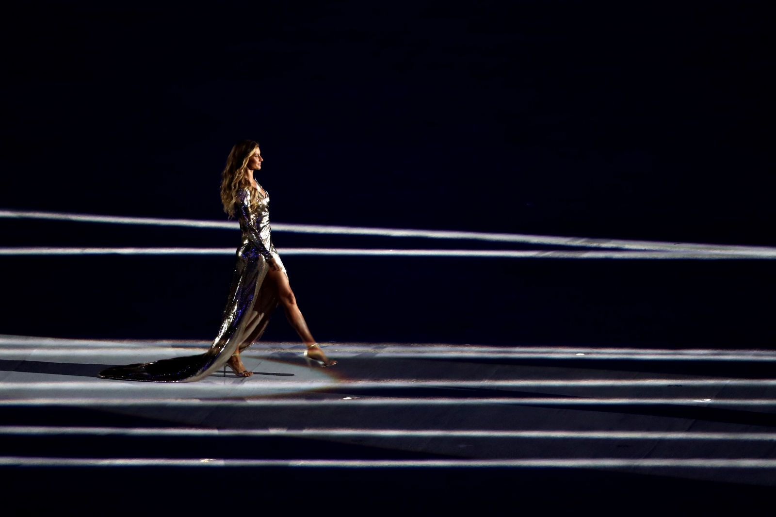 See Gisele Bündchen Walk the World's Longest Runway at the Olympics Opening Ceremony in Rio