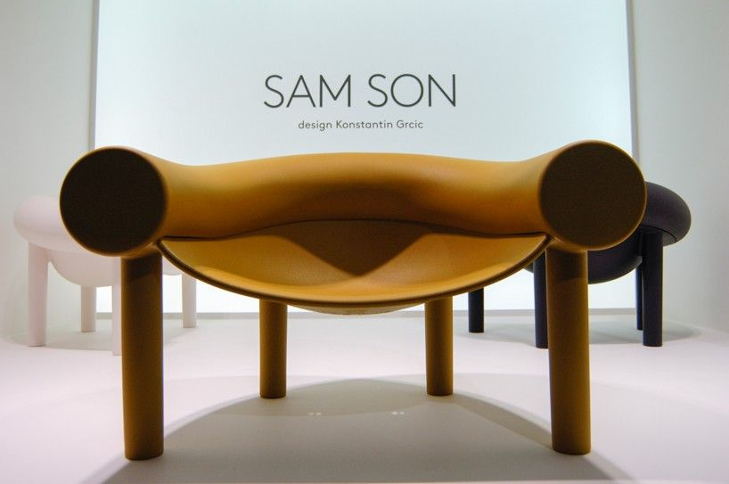 konstantin grcic molds sam son chair with a hint of cartoon character for magis