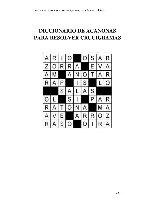DICCIONARIO PARA RESOLVER CRUCIGRAMAS UNA PODEROSA HERRAMIENTA PARA  RESOLVER CRUCIGRAMAS ceb2951b525