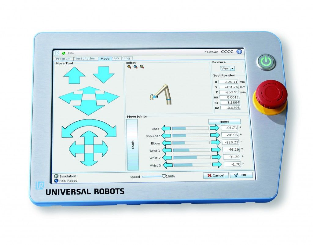 The universal robots tpu teach pendant unit is very user friendly the universal robots tpu teach pendant unit is very user friendly aloadofball Image collections