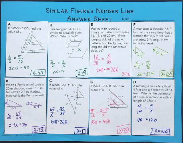 Similar Polygons INB Pages | Activities, Math and Math resources