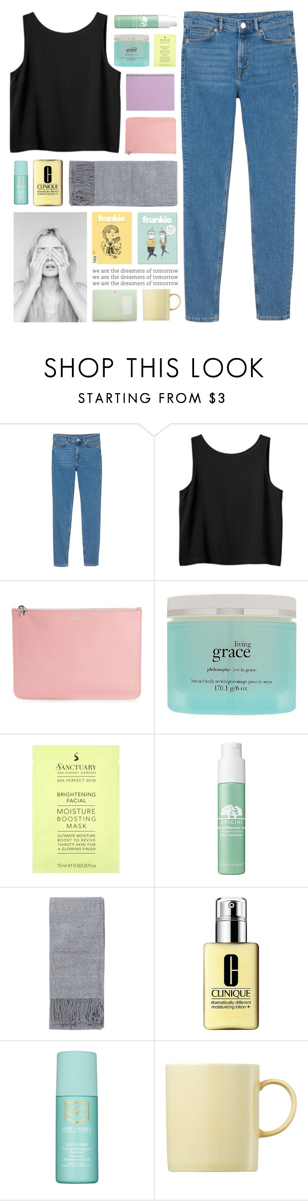 """what would i do without you..."" by cinnamon-and-cocoa ❤ liked on Polyvore featuring Monki, Alexander McQueen, philosophy, Origins, Topshop, Clinique, Estée Lauder and Rosenthal"