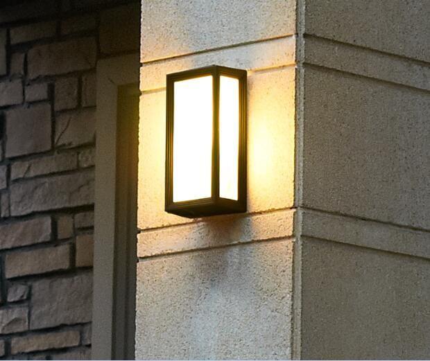 2016new Modern Gate Wall Lamp Led 5w 4000k Black Aluminum Housing