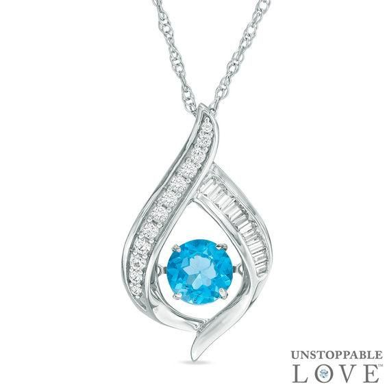 Zales Unstoppable Love 6.0mm Lab-Created Ruby and White Sapphire Oval Pendant in Sterling Silver BOKI5Lom5
