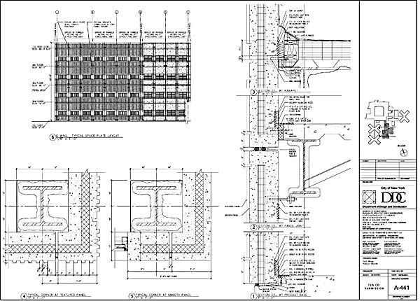 Precast Concrete Wall Panels Attachment : Precast concrete wall section detail stairs pinned by
