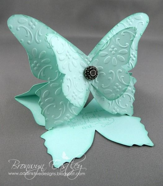 My MDS, E-Cut Butterfly Easel Card