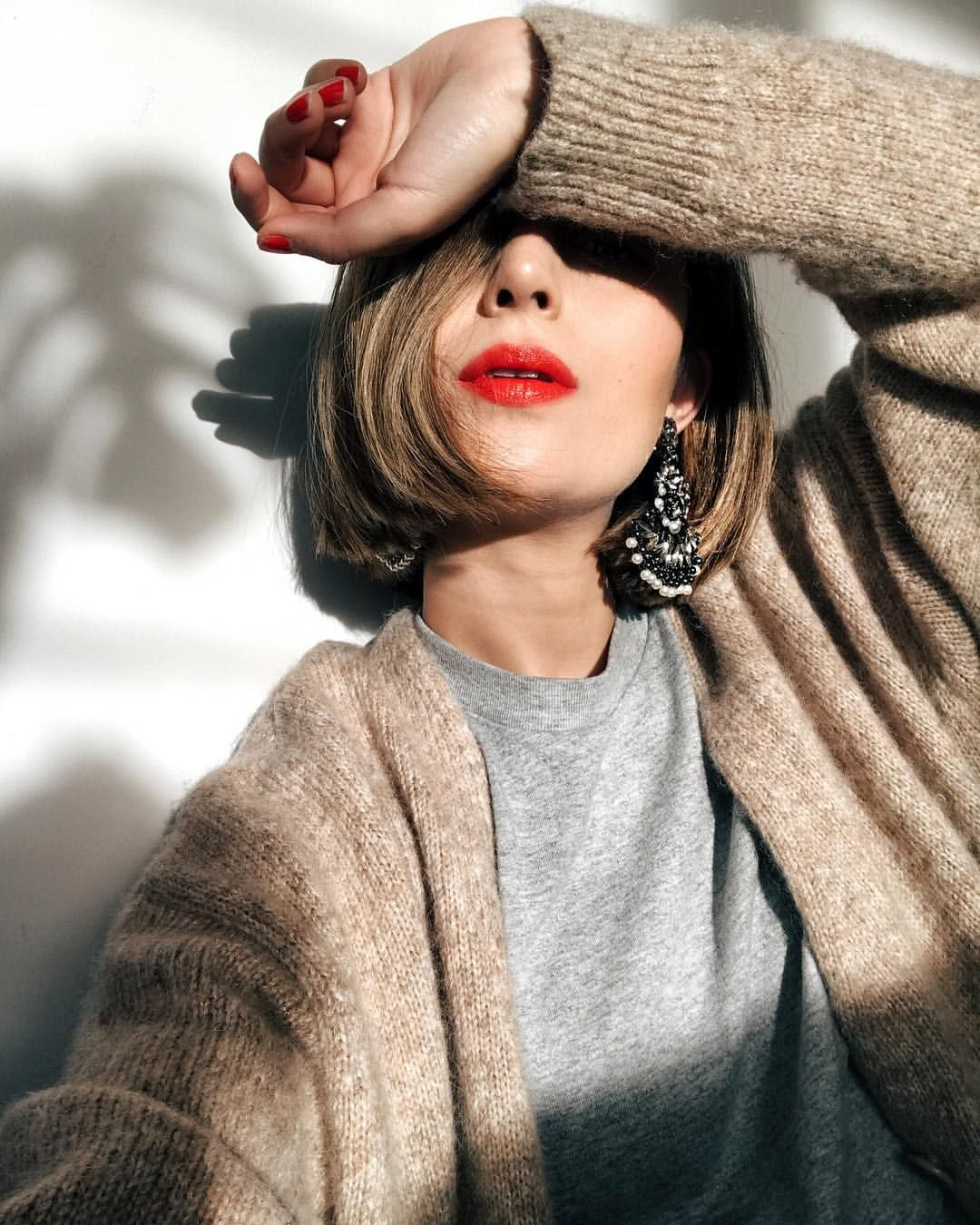 Pin by erika videtto on me pinterest red lipsticks short hair
