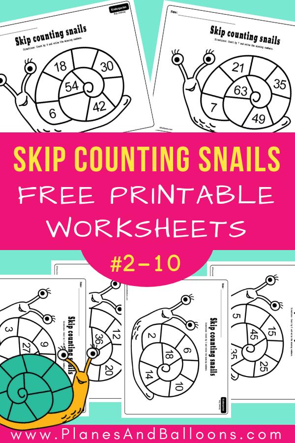 Skip Counting Snails Worksheets Worksheets For Your Spring Math Lessons Kindergarten Math Activities Kindergarten Math Worksheets Kindergarten Math Worksheets Free