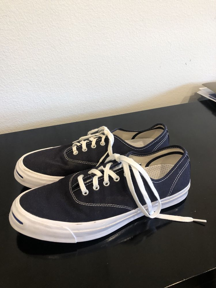 4a32888ae130 Mens Converse Jack Purcell Size 12 Inked Canvas Casual Navy