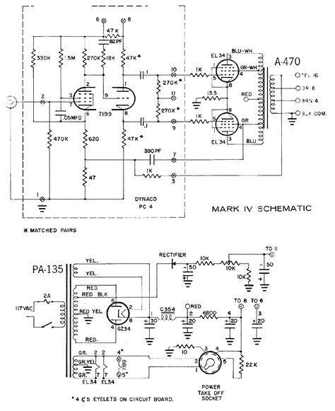 Dynaco Dynakit Mark Iv Tube Amplifier Schematic