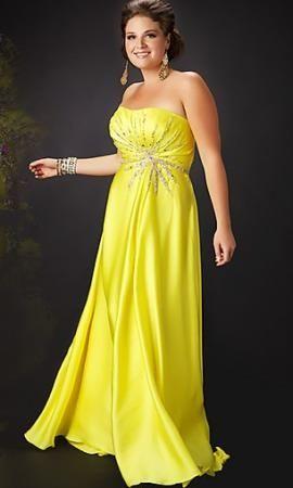 Vestidos de fiesta amarillos para gorditas