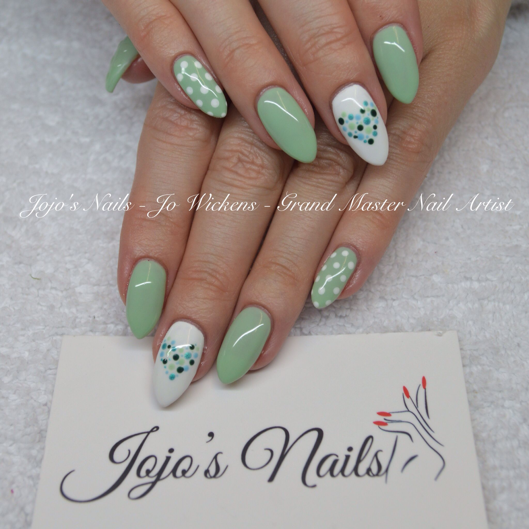 Cnd Brisa Lite Sculpting Gel Overlays With Hand Painted Nail Art By Jo Wickens