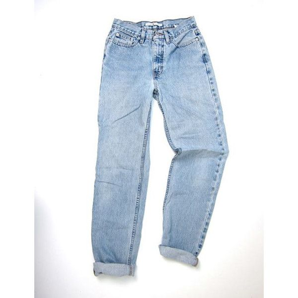 2fd9a3e345f3e Tommy Hilfiger 90s Jeans High Waist Washed Out Blue Jeans Worn In... (200  PLN) ❤ liked on Polyvore featuring jeans, vintage jeans, high-waisted jeans,  ...
