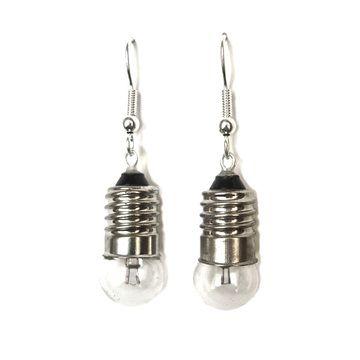 Light Bulb Earrings Transparent