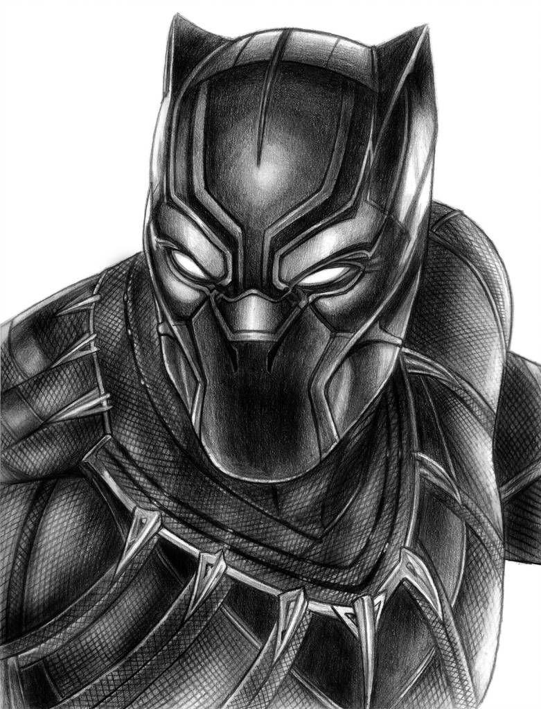 Black Panther By Soulstryder210 Schwarzer Panther Zeichnung Marvel Zeichnungen Superhelden Malvorlagen