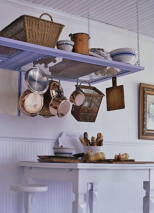 Good idea for high ceiling in the kitchen.