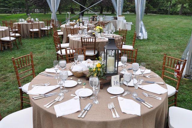 Rustic Wedding Table Settings Setting Main Line Philadelphia Tent