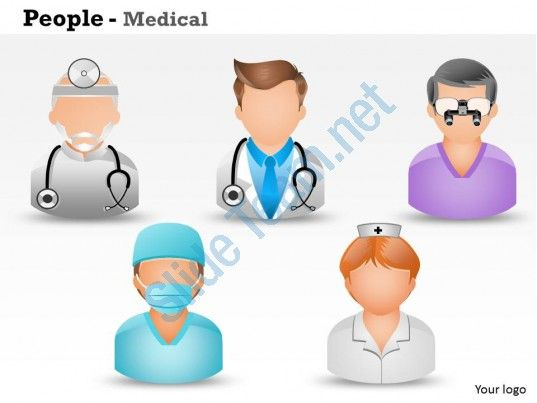 0514 3d graphic of medical people medical images for powerpoint Slide01