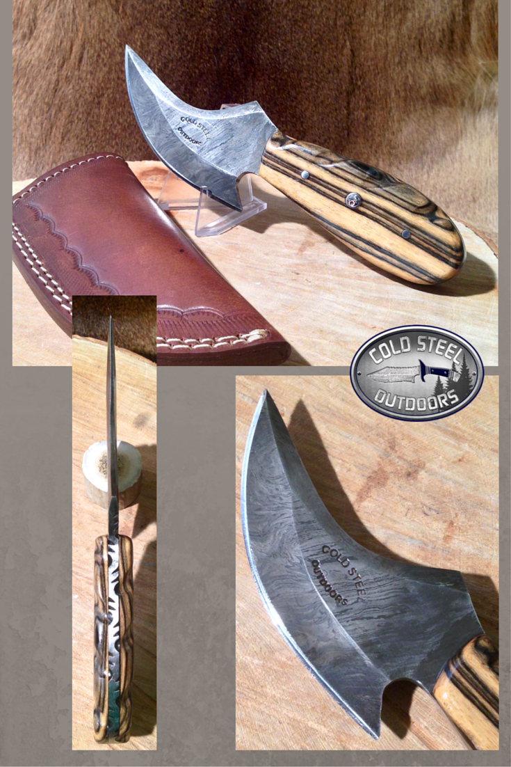 Field Skinner from Cold Steel Outdoors. World Class Damascus Steel Hunting Knives. https://coldsteeloutdoors.com/collections/damascus-steel-knives