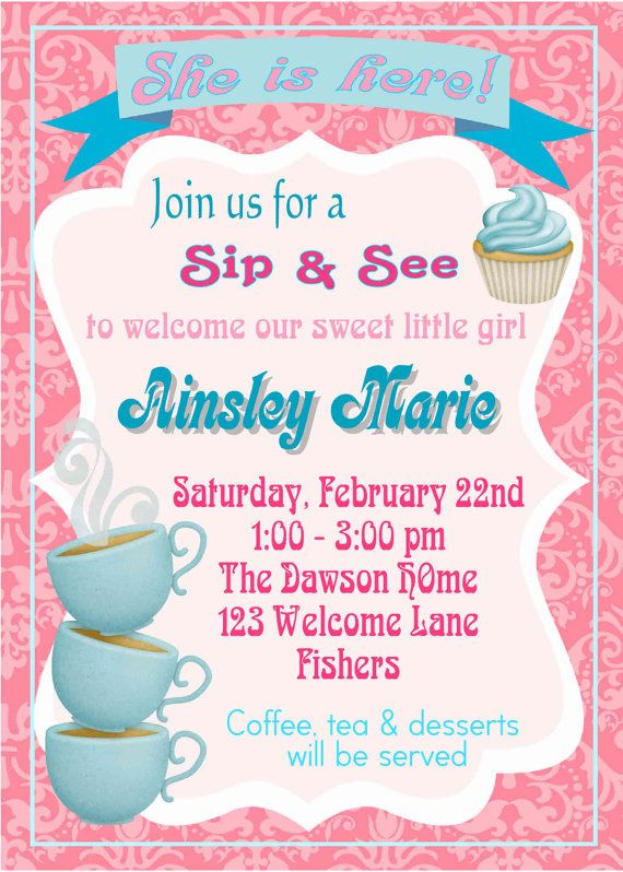 Welcome Baby Party Invitations Arts Arts