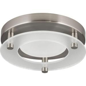 SMALL!!  AND MAY BE COOL WHITE. BUT INTERESTING Progress Lighting 5-1/2 in. Square 1-Light Brushed Nickel LED Surface Mount Light-P8247-09/30K9-AC1-L06 - The Home Depot