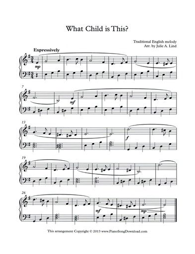free intermediate level christmas carol to print or save as digital music on your ipad - Free Christmas Piano Sheet Music