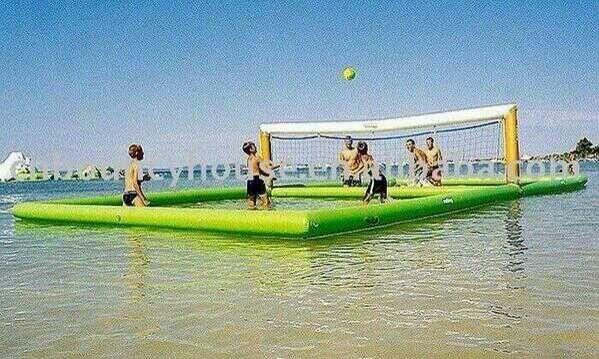 La Cancha Me Encanta Cancha De Voleibol Water Volleyball Beach Volleyball Court Lake Fun