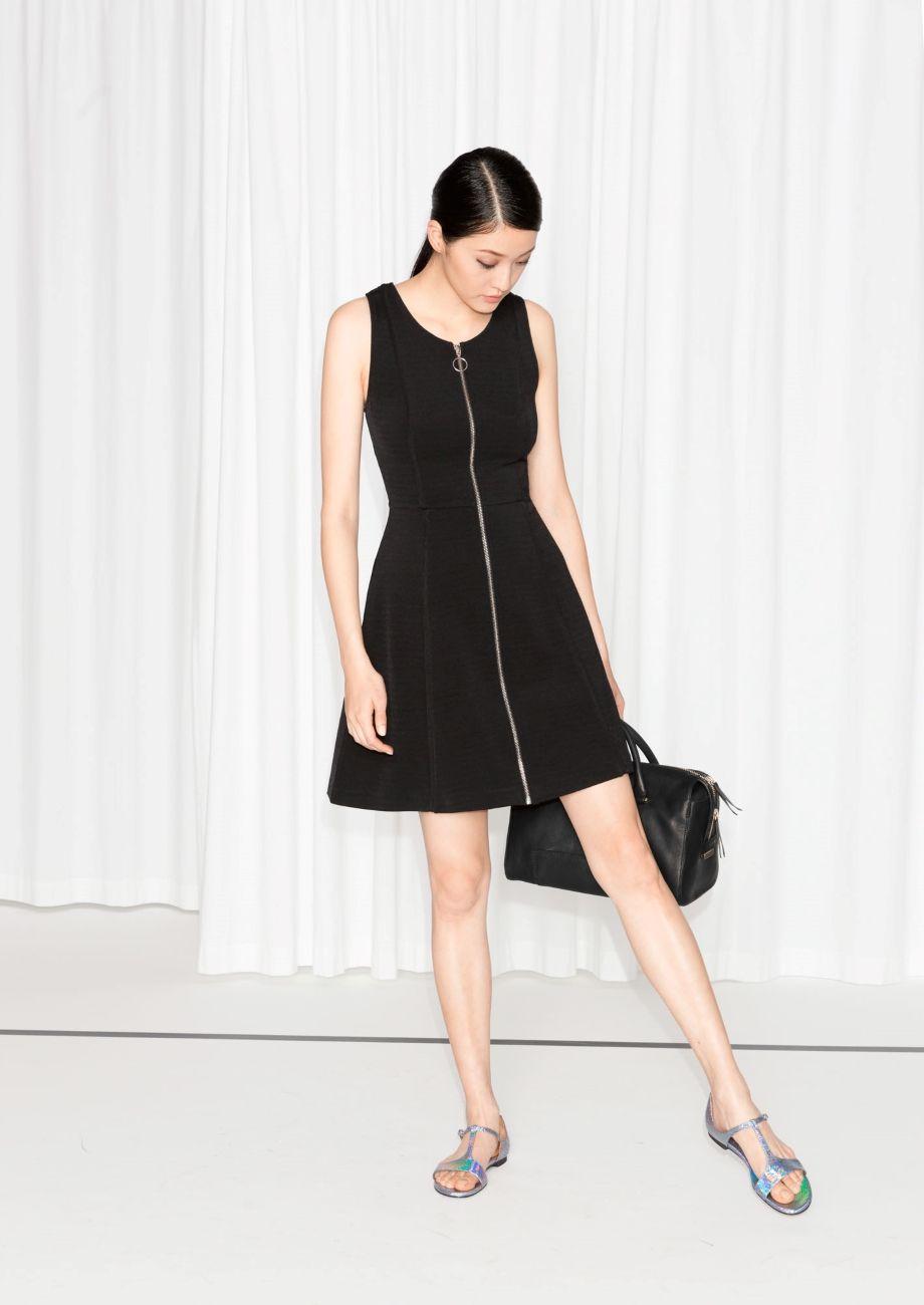 fa817dab7e4 & Other Stories | Zip Detail Skater Dress | Black | Fashion ...