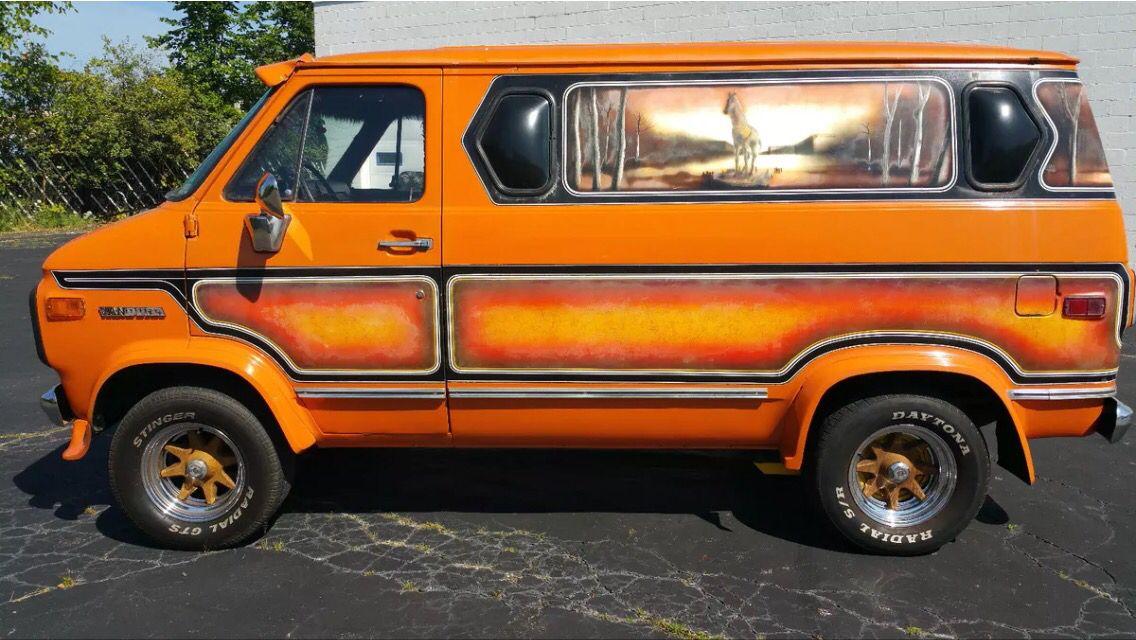 1976 Gmc Vandura Woodsman Van Custom Vans Gmc Vans Chevy Van